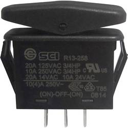 Vippströmbrytare 14 V/AC 21 A 1x (På)/Av/(På) SCI R13-258I IP66 momentan/0/momentan 1 st