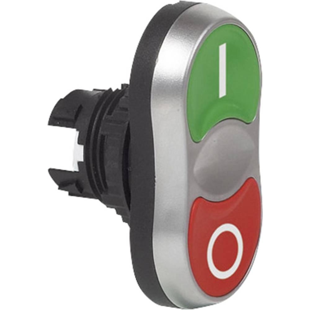Dvojno pritisno tipkalo BACO L61QB21B, 2 x tipkalno, zeleno-rdeče barve BA100506