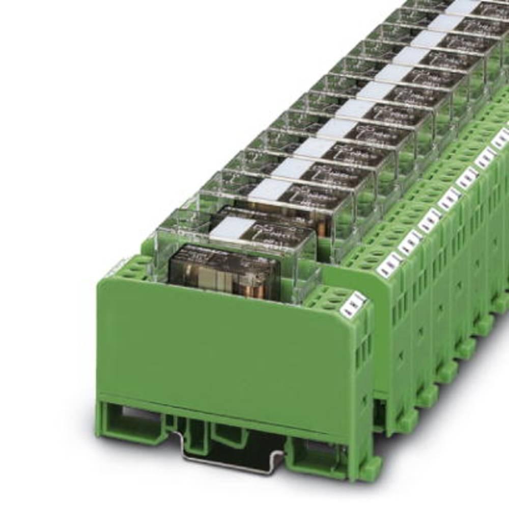 Relaisbaustein (value.1292895) 10 stk Phoenix Contact EMG 17-REL/KSR-G 24/2E/SO38 Nominel spænding: 24 V/DC Brydestrøm (max.): 1