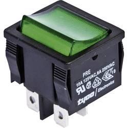 Vippströmbrytare 250 V/AC 6 A 2x Av/På TE Connectivity 1634200-1 låsande 1 st