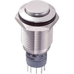 Pritisna tipka z zaščito pred vandalizmom 250 V/AC 3 A 1 x vklop/(vklop) TRU Components LAS2GQH-11/S/P IP67 tipkalno 1 kos