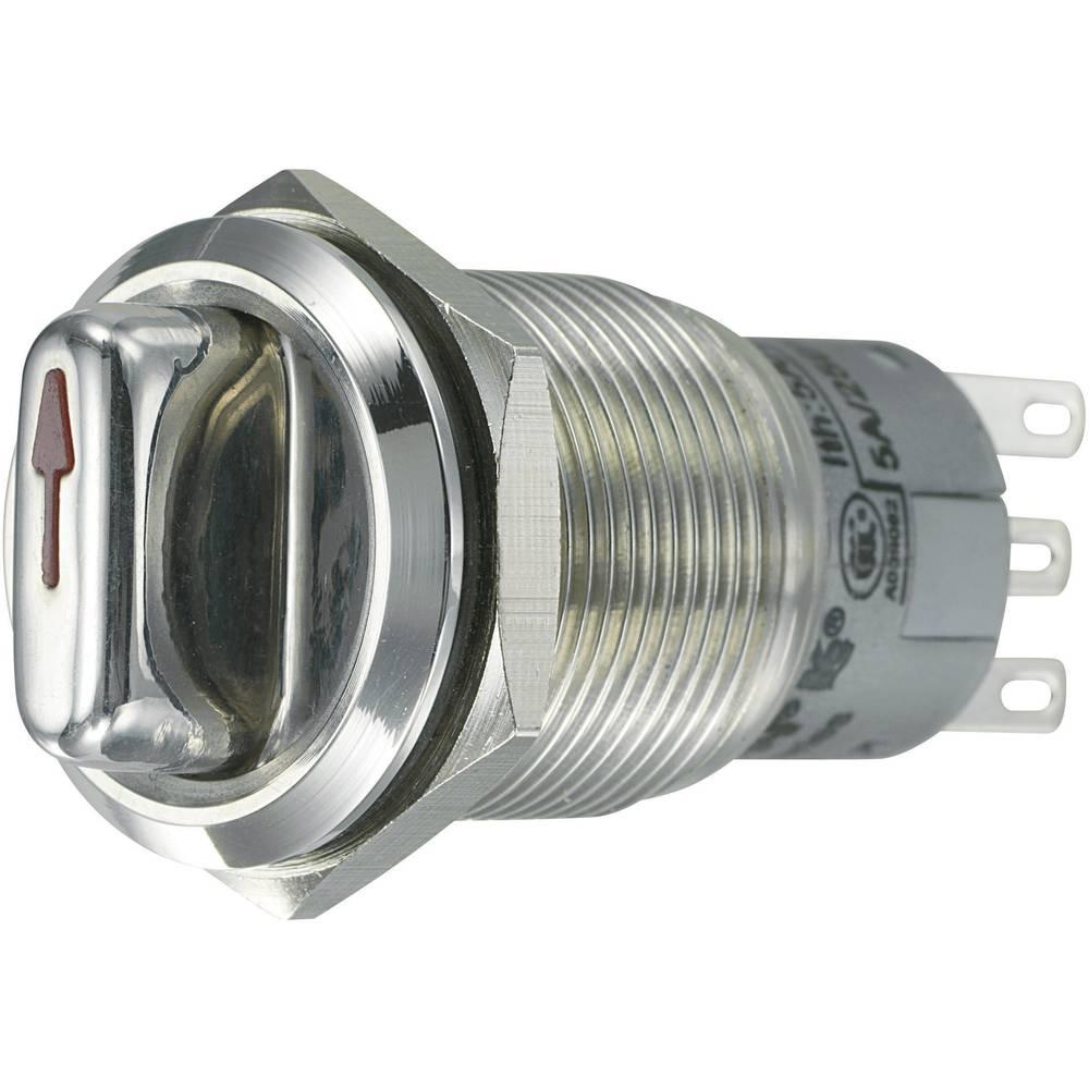 Vrtljivo stikalo z zaščito pred vandlizmom 250 V/AC 3 A št. preklopnih položajev 2 1 x 90 ° TRU Components LAS1-AGQ-22X/31 IP65