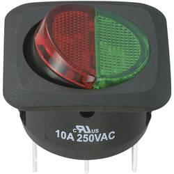 SCI Klecno stikalo, 10 A Vklop/vklop 250 V/AC 10 A R13-203CL3-01-BGRGR5
