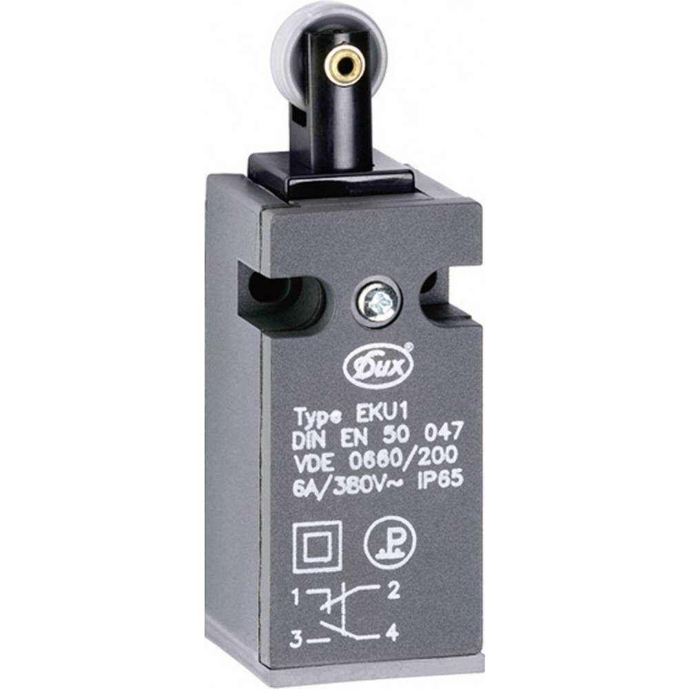Končno stikalo Schlegel EKU1-KR, 1 x delovni + 1 x mirovni kontakt, 380 V/AC, 6 A