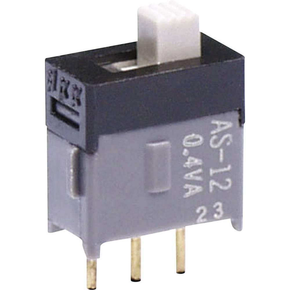 Izjemno majhno drsno stikalo NKK Switches AS22AH, 28 V DC/AC, 100 mA