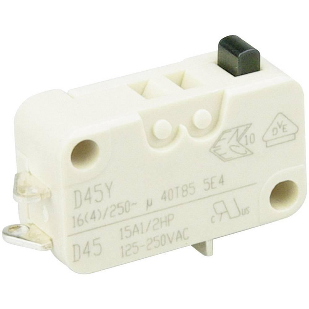Cherry Miniaturno stikalo D4 250 V/AC D453-B8AA, 1 preklopni kontakt, kratki spajkalni pri Cherry Switches