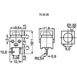 Pritisna tipka 100 V 1 A 1 x izklop/(vklop) DS660S-S BK tipkalno 1 kos