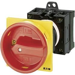 Eaton T0-2-1/V/SVB-Odmični prekidač sa zaključavanjem,, 20A, 1x90°, žut, crven, 6.5kW, 1 komad 43619