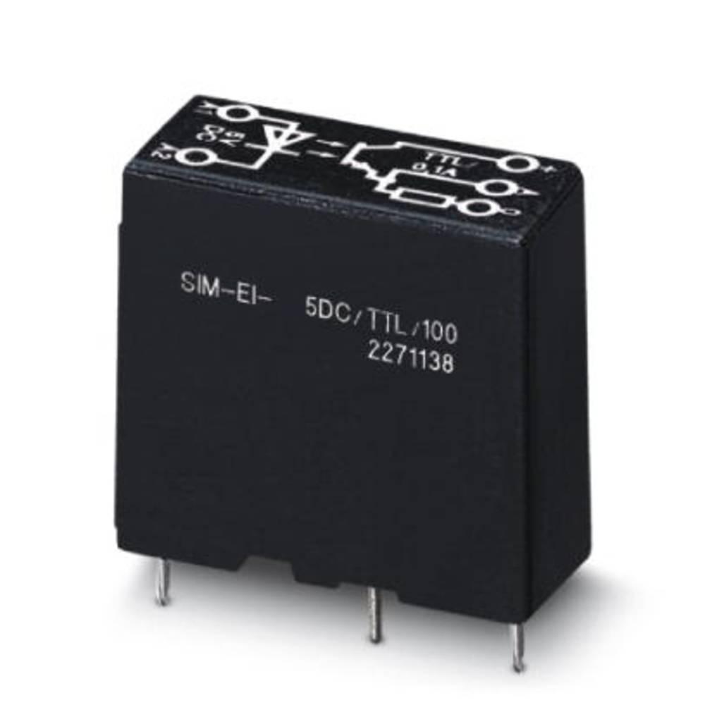 Halbleiterrelais (value.1292894) 10 stk Phoenix Contact SIM-EI- 24DC/TTL/100 Last-Strøm (maks.): 100 mA Koblingsspænding (max.):