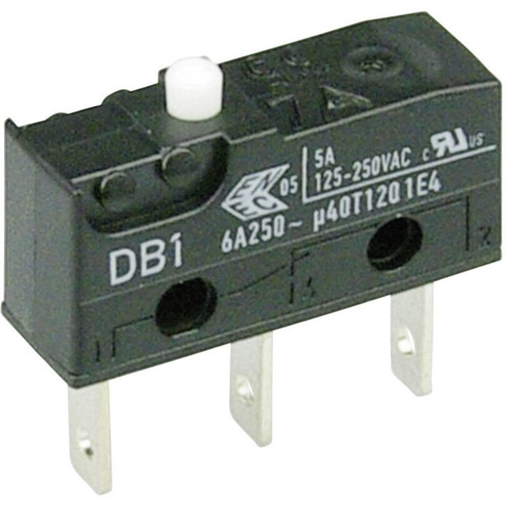 Cherry Subminiaturno stikalo DB1 250 V/AC DB1C-B1AA, 1 preklopni kontakt, ploščati vtič 2, Cherry Switches