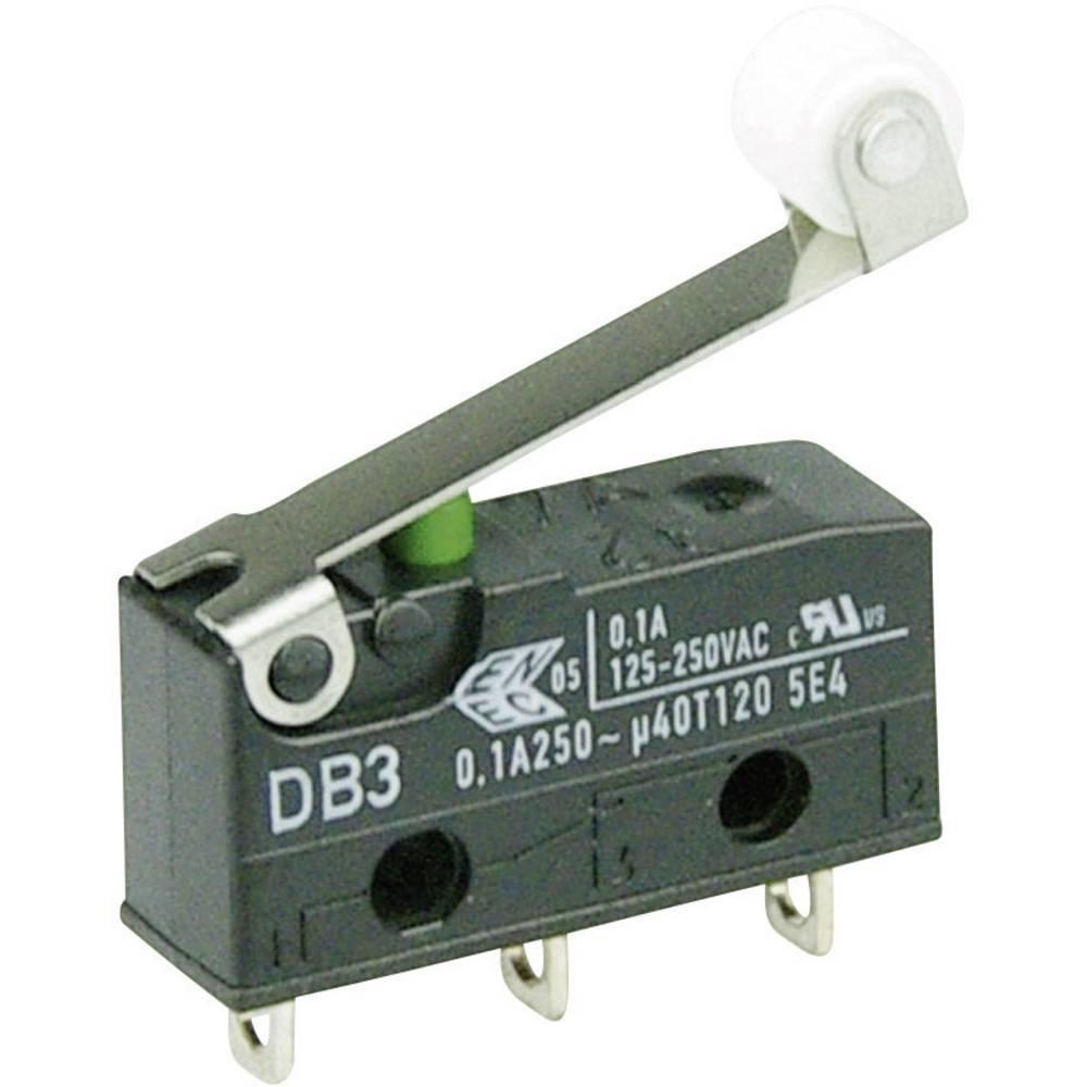 Cherry Subminiaturno stikalo 250 V/AC DB3 DB3C-A1RC, 1 preklopni kontakt, spajkalni priklo Cherry Switches