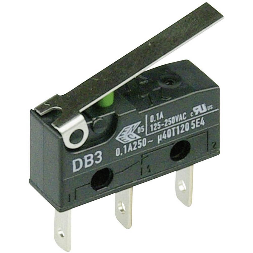 Mikro stikalo 250 V/AC 0.1 A 1 x vklop/(vklop) Cherry Switches DB3C-B1LC tipkalno 1 kos