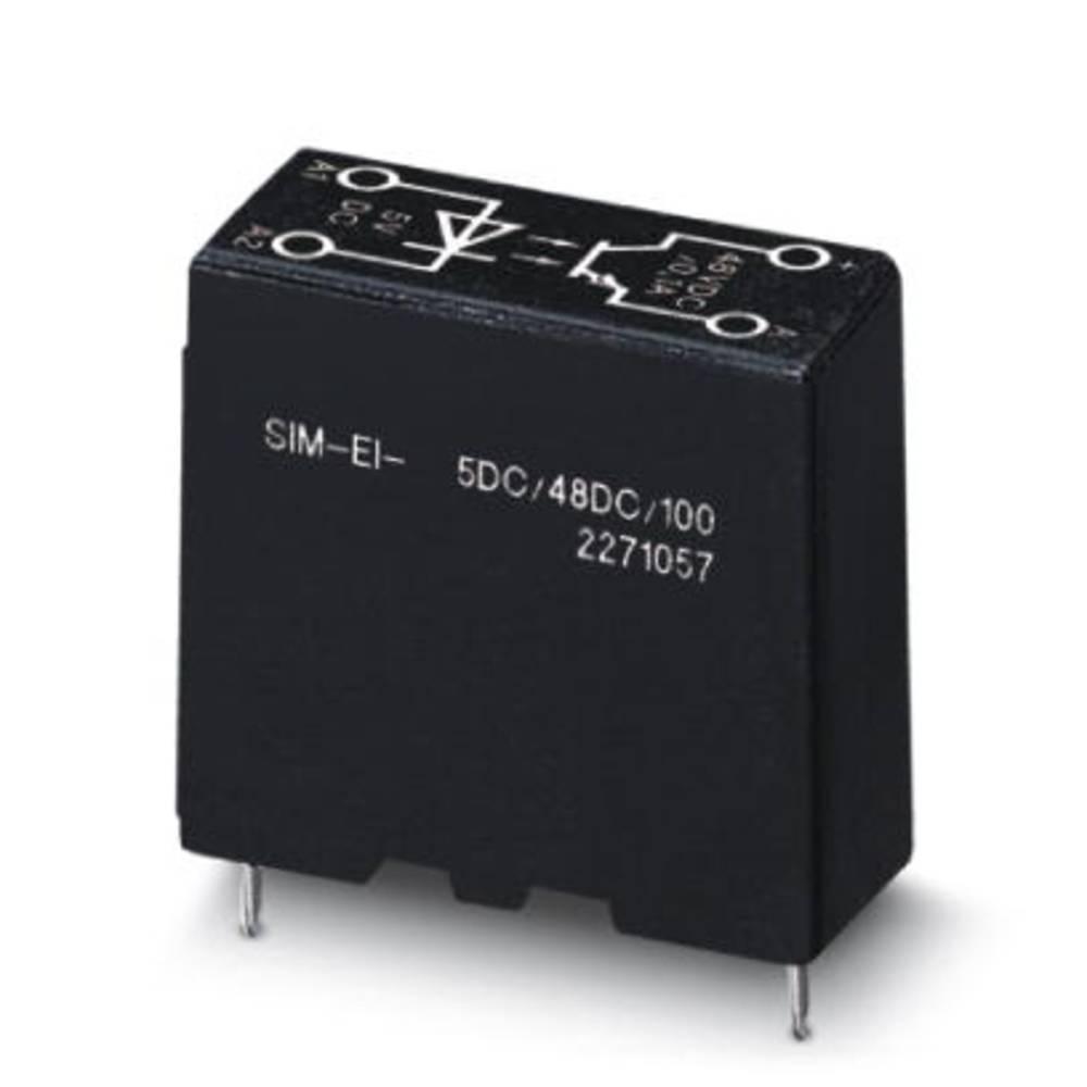 Halbleiterrelais (value.1292894) 10 stk Phoenix Contact SIM-EI- 24DC/48DC/100 Last-Strøm (maks.): 100 mA Koblingsspænding (max.)