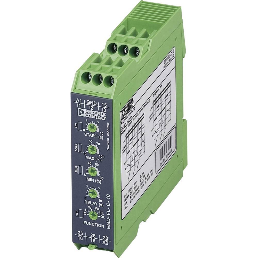 Nadzorni rele 2 izmenjevalnika 1 kos Phoenix Contact EMD-FL-C-10 1-fazni, tokovni, nadtokovni, podtokovni, okno, pomnilnik napak
