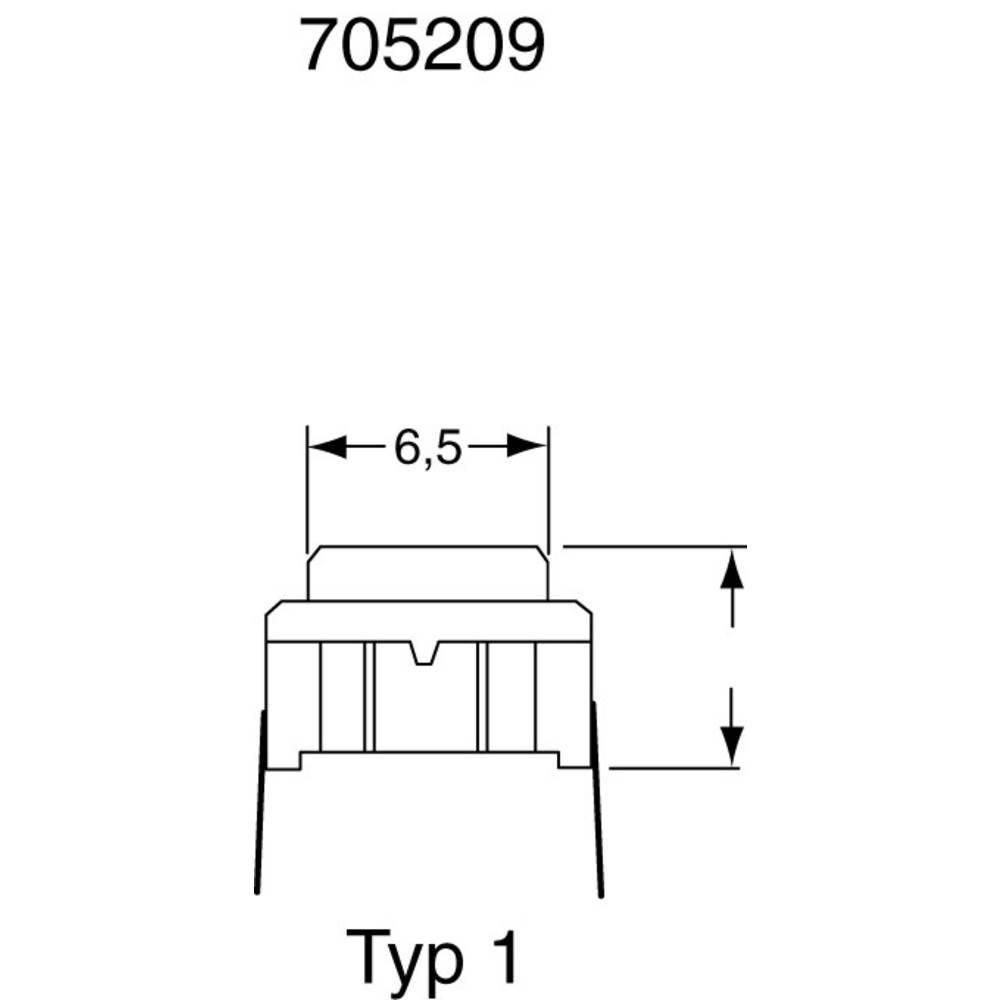 Pritisna tipka 24 V/DC 0.05 A 1 x izklop/(vklop) MEC 3CSH9 SMD IP67 tipkalno 1 kos