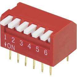 DIP-prekidač, broj polova 6 Piano-tip TRU Components DP-06 1 kom.