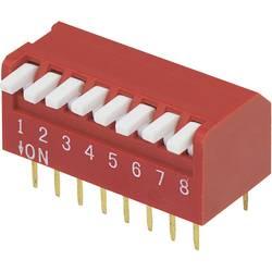 DIP-prekidač, broj polova 8 Piano-tip TRU Components DP-08 1 kom.