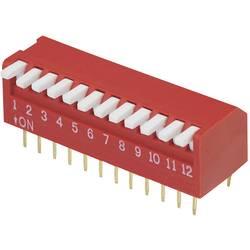 DIP-prekidač, broj polova 12 Piano-tip TRU Components DP-12 1 kom.