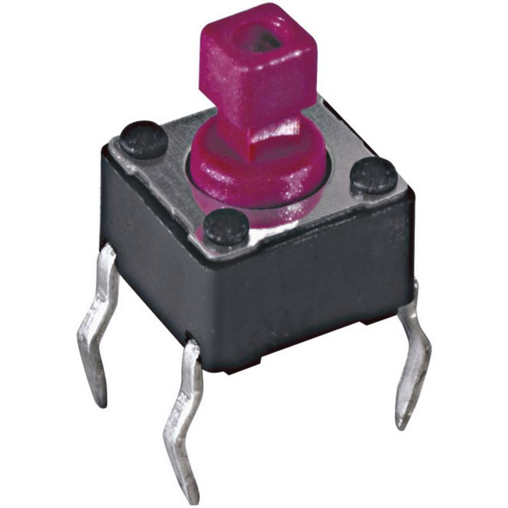 Pritisna tipka, gumb za tiskano vezje 12 V/DC 0.05 A 1 x izklop/(vklop) Diptronics DTS-644R-V pritisno 1 kos