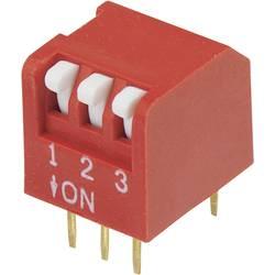 DIP-prekidač, broj polova 3 Piano-tip TRU Components DPR-03 1 kom.