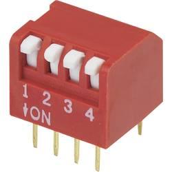 DIP-prekidač, broj polova 4 Piano-tip TRU Components DPR-04 1 kom.