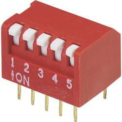 DIP-prekidač, broj polova 5 Piano-tip TRU Components DRP-05 1 kom.
