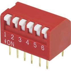 DIP-prekidač, broj polova 6 Piano-tip TRU Components DPR-06 1 kom.
