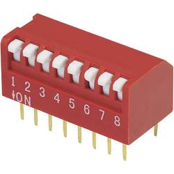 DIP-prekidač, broj polova 8 Piano-tip TRU Components DPR-08 1 kom.