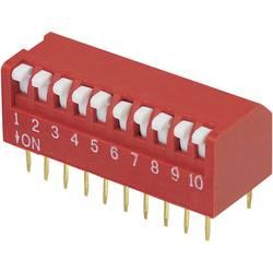 DIP-prekidač, broj polova 10 Piano-tip TRU Components DPR-10 1 kom.