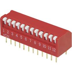DIP-prekidač, broj polova 12 Piano-tip TRU Components DPR-12 1 kom.