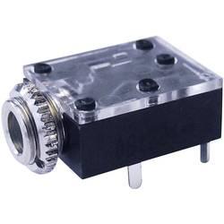 Hörlursuttag 3.5mm Cliff FT6320 Antal poler 3 Stereo Svart 1 st