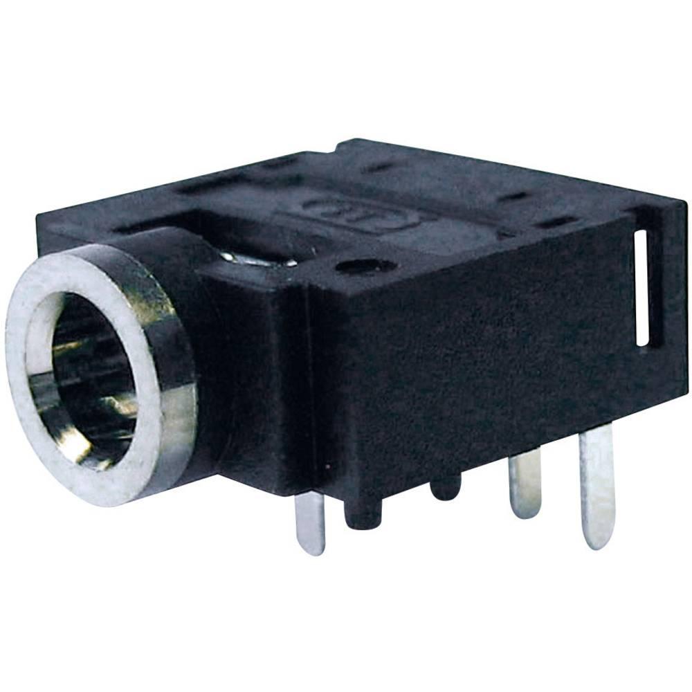 Cliff FC68133-Priključna doza za JACK vtič, 3.5mm, vgrajena horizontalno, število polov: 5/stereo , črna, 1 kos