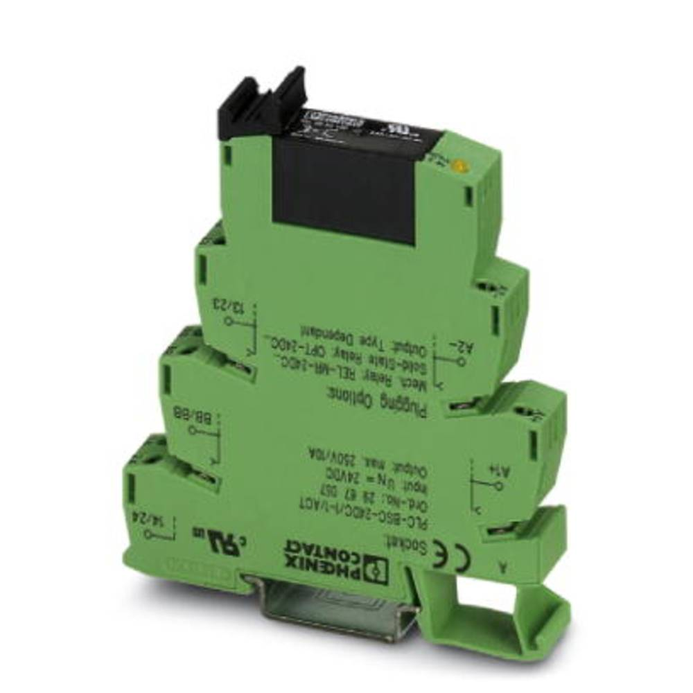 Halbleiterrelais (value.1292894) 10 stk Phoenix Contact PLC-OSC- 24DC/ 24DC/ 5/ACT Last-Strøm (maks.): 5 A Koblingsspænding (max