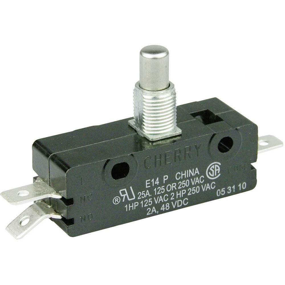 Mikro stikalo 250 V/AC 25 A 1 x vklop/(vklop) Cherry Switches E14-00M tipkalno 1 kos