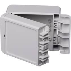 Kabinet til montering på væggen, Installationskabinet 80 x 113 x 60 Polycarbonat Lysegrå (RAL 7035) Bopla Bocube B 100809 PC-V0-