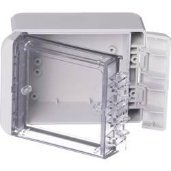 Kabinet til montering på væggen, Installationskabinet 80 x 113 x 60 Polycarbonat Lysegrå (RAL 7035) Bopla Bocube B 100806 PC-V0-