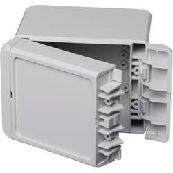 Kabinet til montering på væggen, Installationskabinet 80 x 113 x 90 Polycarbonat Lysegrå (RAL 7035) Bopla Bocube B 100809 PC-V0-