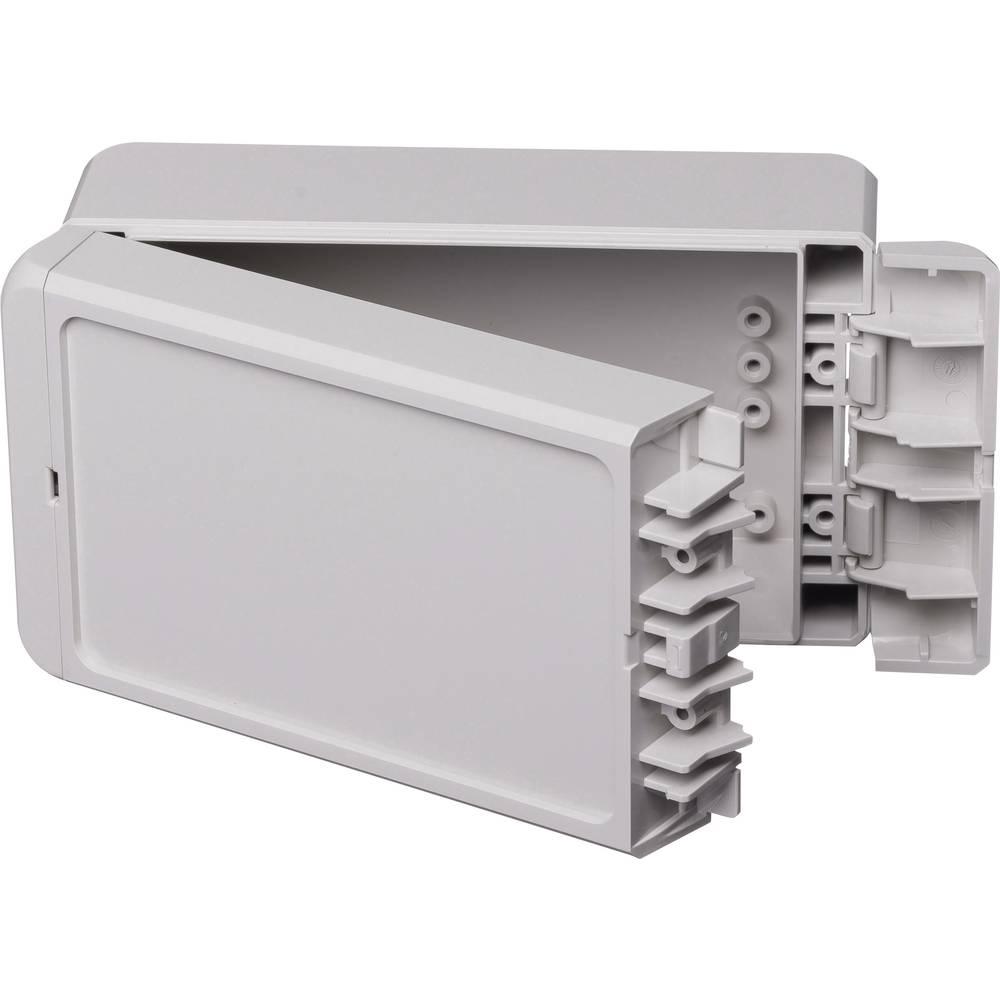 Kabinet til montering på væggen, Installationskabinet 80 x 151 x 60 ABS Lysegrå (RAL 7035) Bopla Bocube B 140806 ABS-7035 1 stk