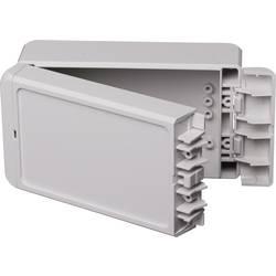 Kabinet til montering på væggen, Installationskabinet 80 x 151 x 60 Polycarbonat Lysegrå (RAL 7035) Bopla Bocube B 140806 PC-V0-