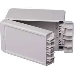 Kabinet til montering på væggen, Installationskabinet 80 x 151 x 90 ABS Lysegrå (RAL 7035) Bopla Bocube B 140809 ABS-7035 1 stk