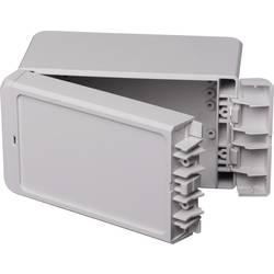 Kabinet til montering på væggen, Installationskabinet 80 x 151 x 90 Polycarbonat Lysegrå (RAL 7035) Bopla Bocube B 140809 PC-V0-