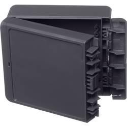 Kabinet til montering på væggen, Installationskabinet 125 x 151 x 60 ABS Grafitgrå (RAL 7024) Bopla Bocube B 141306 ABS-7024 1 s
