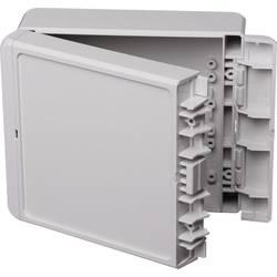 Kabinet til montering på væggen, Installationskabinet 125 x 151 x 60 ABS Lysegrå (RAL 7035) Bopla Bocube B 141306 ABS-7035 1 stk