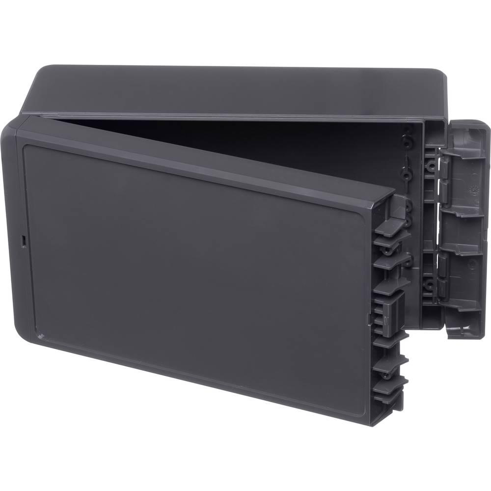 Kabinet til montering på væggen, Installationskabinet 125 x 231 x 90 ABS Grafitgrå (RAL 7024) Bopla Bocube B 221309 ABS-7024 1 s