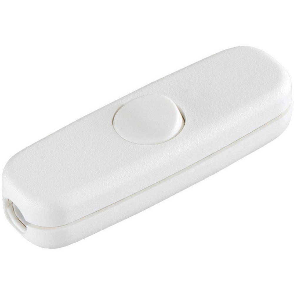 Vrvično vmesno stikalo interBär, 250 V/AC, 3 A, 1 x vklop/izklop, bele barve 5055-008.01