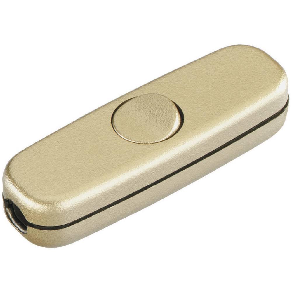 Vrvično vmesno stikalo interBär, 250 V/AC, 3 A, 1 x vklop/izklop, zlate barve 5055-010.01