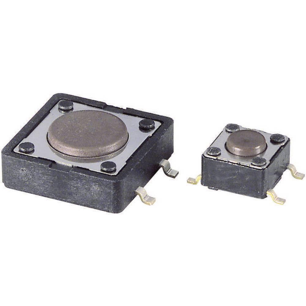 Diptronics SMD-tipka 6 x 6 mm12 V/DC 50 m/ A DTSM-63N-V-B