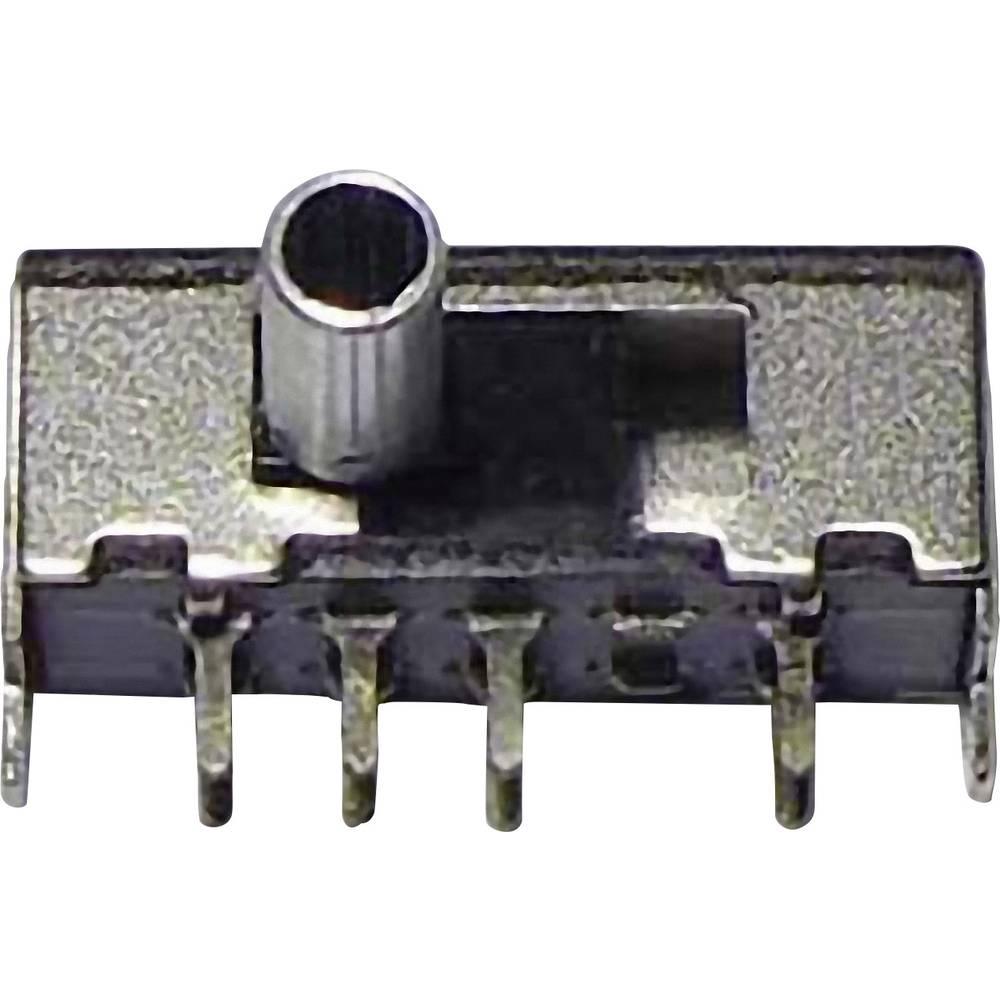 Klizajuči prekidač 2 x uklop/uklop/uklop 50 V/DC 0,3 A