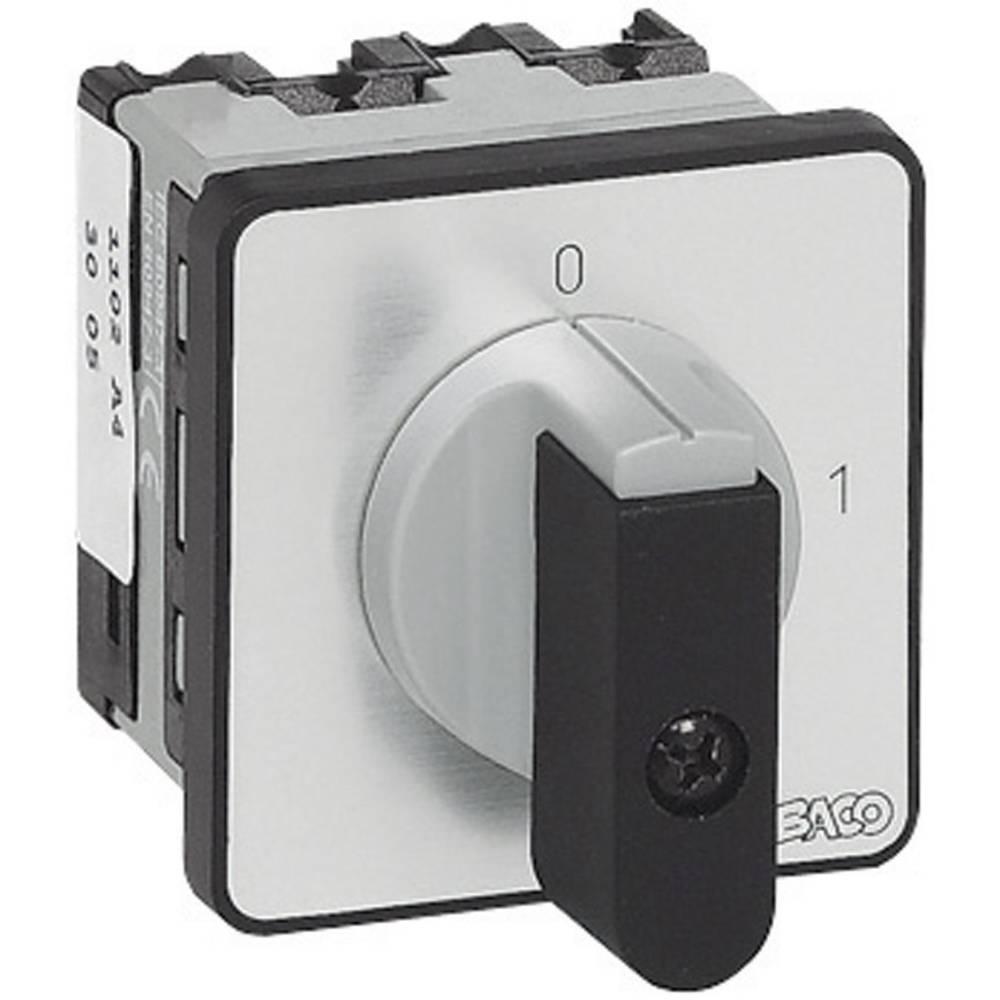 BACO NB02AQ1-Ločilno stikalo, 16A, 1x90°, sivo, črno, 1 kos BANB02AQ1