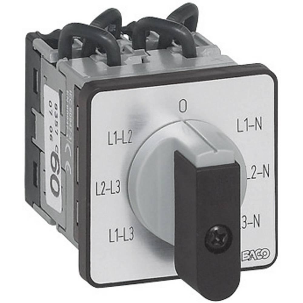 BACO NY37GQ1-Preklopno stikalo za voltmeter, 16A, 360°, sivo, črno, 1 kos BANY37GQ1